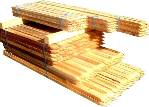 Hardwood Stakes 25x25x180cm